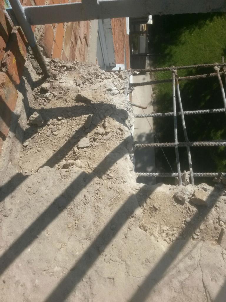 Как отремонтировать балконную плиту своими руками